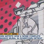 Twin street artists How & Nosm complete massive mural in downtown Detroit