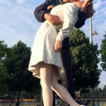 Giant 25-foot WWII 'kissing' statue removed from Royal Oak