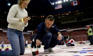 """Paint the Ice"" at Joe Louis Arena"
