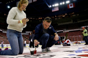 """""""Paint the Ice"""" at Joe Louis Arena"""