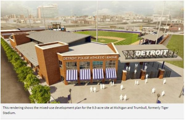 Detroit PAL launches brick campaign for Tiger Stadium site development