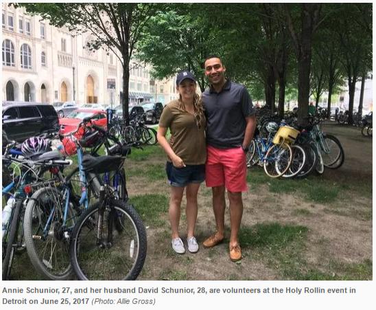 250 bicyclists take tour of downtown Detroit Catholic churches