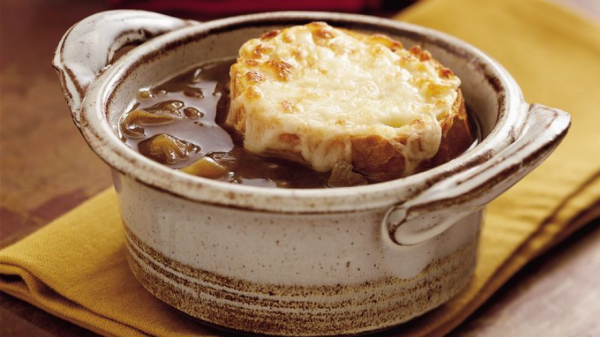 Homemade French onion soup is a classic comfort soup